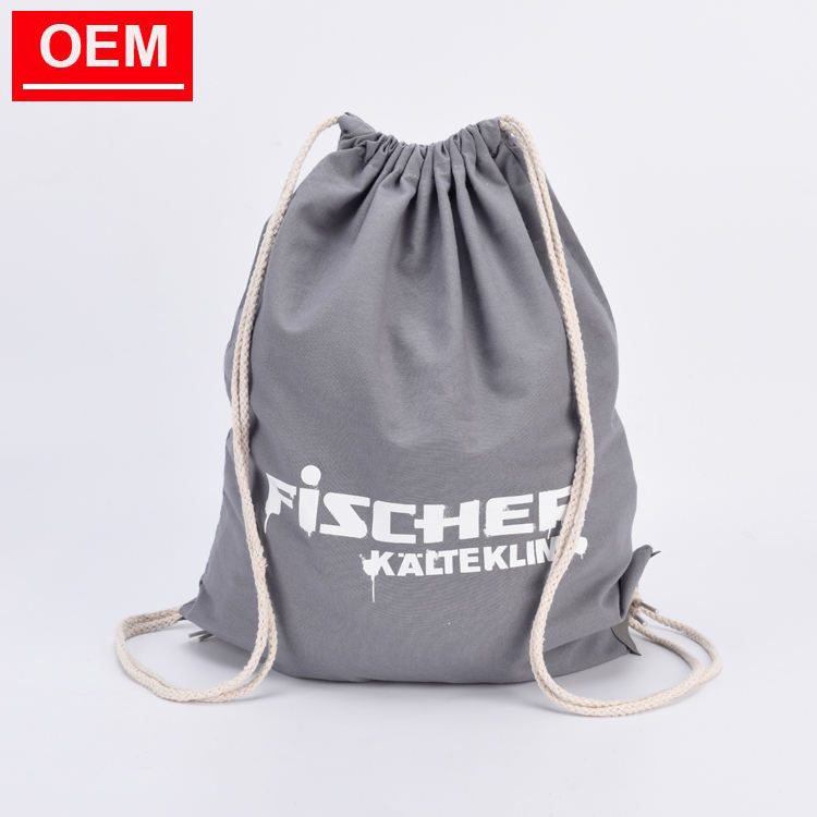 eco cotton drawstring backpack