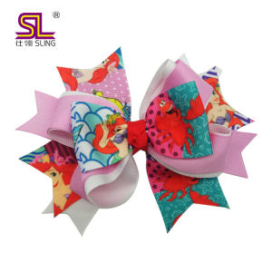 Cover your hair kids flower big hair clip bows headwear accessory