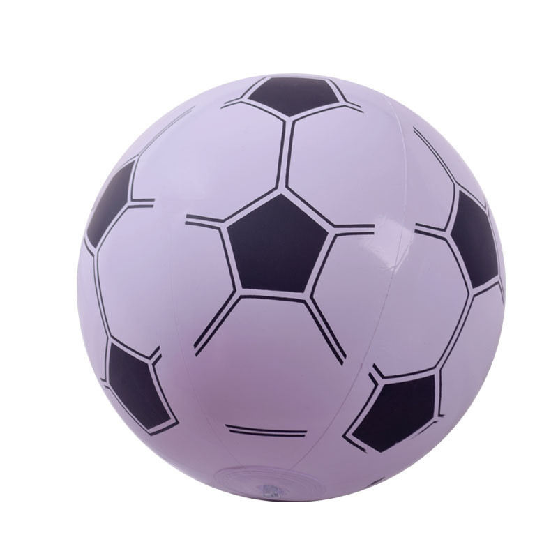 Hot Sale Promotional Pvc Inflatable Beach Ball with football pattern