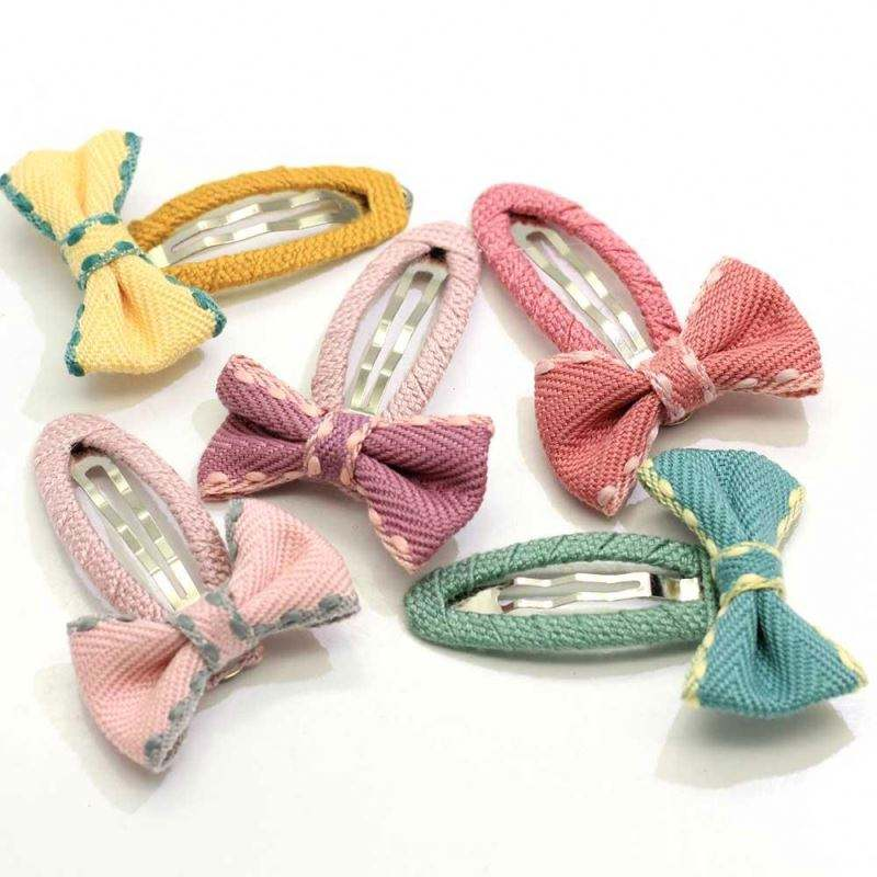 New Kawaii Snap Clips Hair Bow Butterfly Clamp Kids Girls Cute Hair Clips Barrettes Hairbows Hairpins Hairgrips Hair accessories