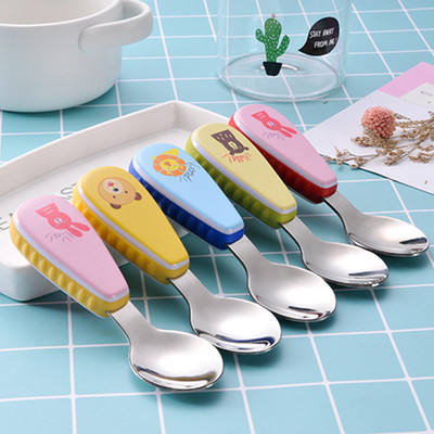 Cartoon children cutlery set 304 stainless steel fork spoon two-piece set kindergarten learning to eat gifts