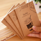 Students cute kraft cover exercise notebooks for promotion