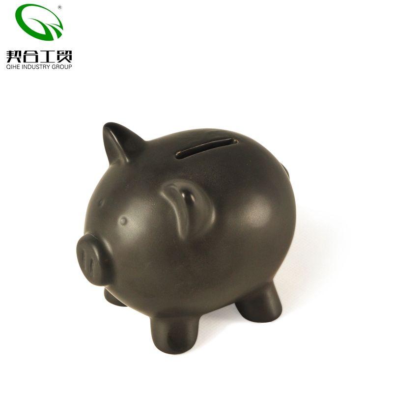 Decoração direto da Fábrica criativa grande porco de cerâmica em forma de banco de moeda caixa de dinheiro piggy banco de cerâmica estatueta mobiliário artigos