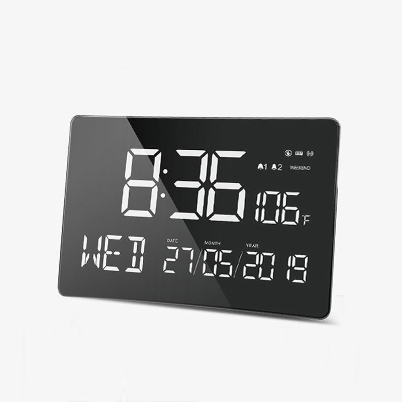 11 Inch Digital Calendar Day New Smart Led Wall Clock With Weather Forecast