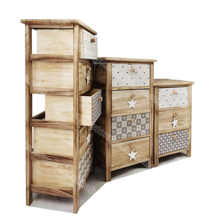 Adjustable Paulownia Wooden Furniture Wood Cabinet Living Room Or Corner Place Storage Cabinet