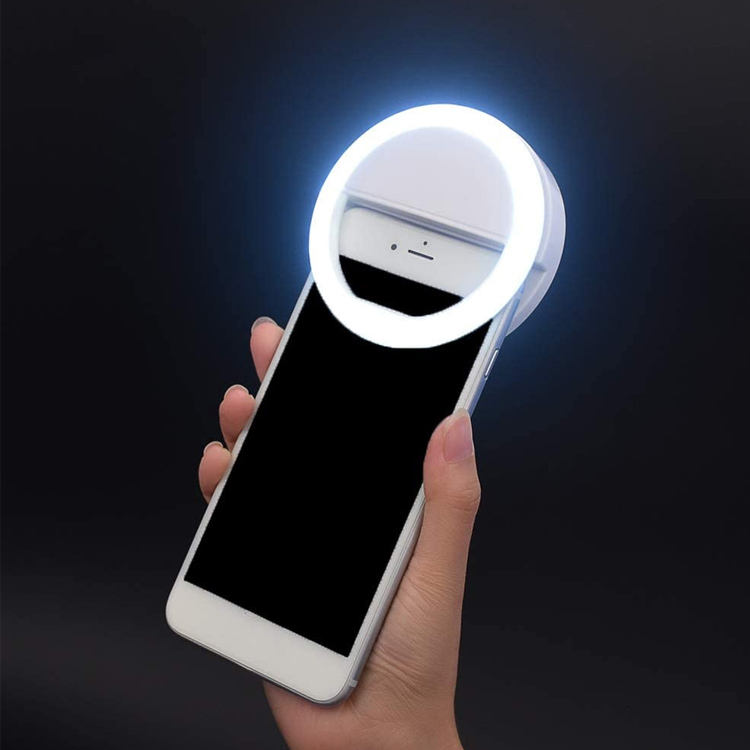 2020 Newest Rechargeable 3-Level Brightness Makeup Mobile Phone LED Selfie Ring Light