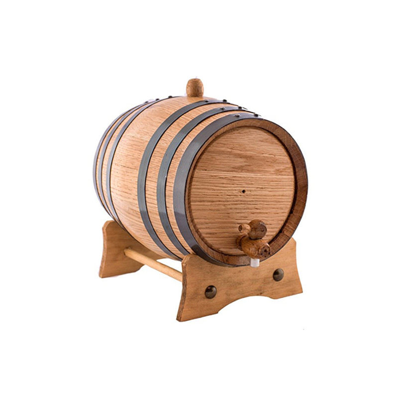 high quality 2 Liters Handcrafted using American Oak Aging Whiskey beer wine wooden Barrel for wine