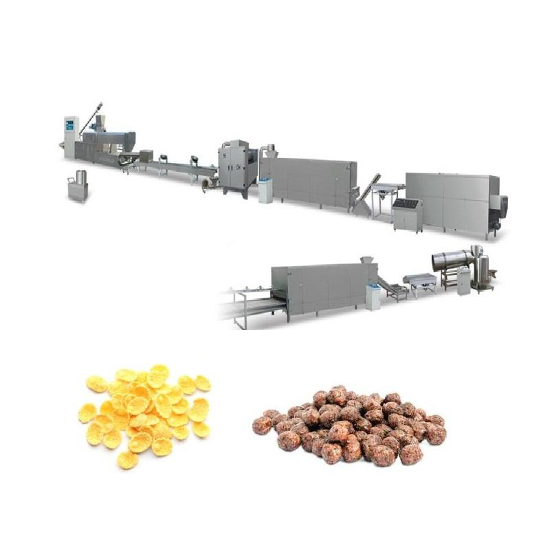Twin-screw Puffed Maquinas Para Hacer Corn Flakes Food Machine Price