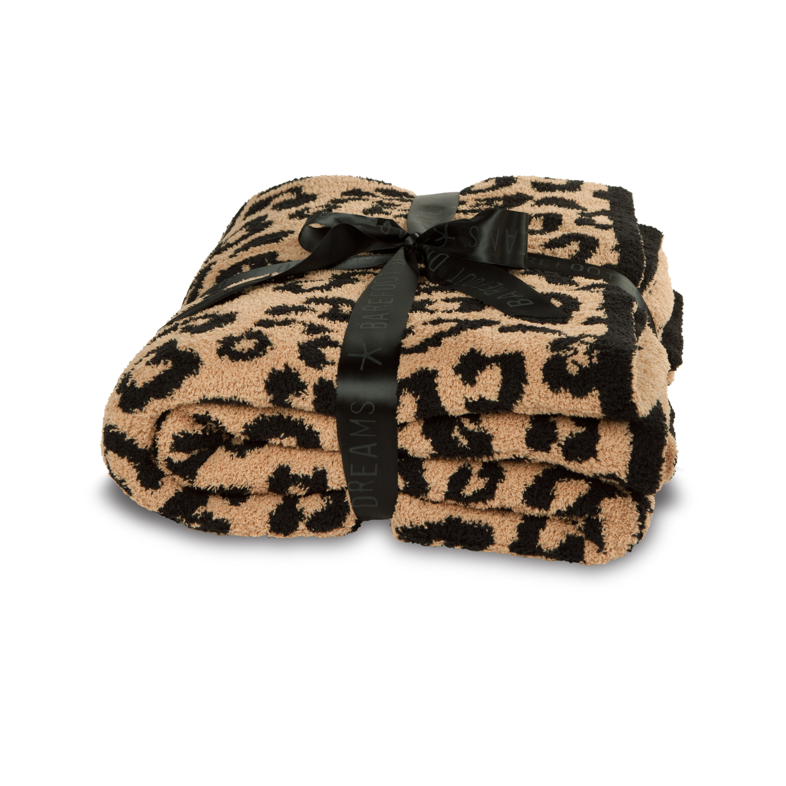 Barefoot Dreams top sell zero defect super soft 100% polyester microfiber feather yarn leopard zebra jacquard knit throw blanket