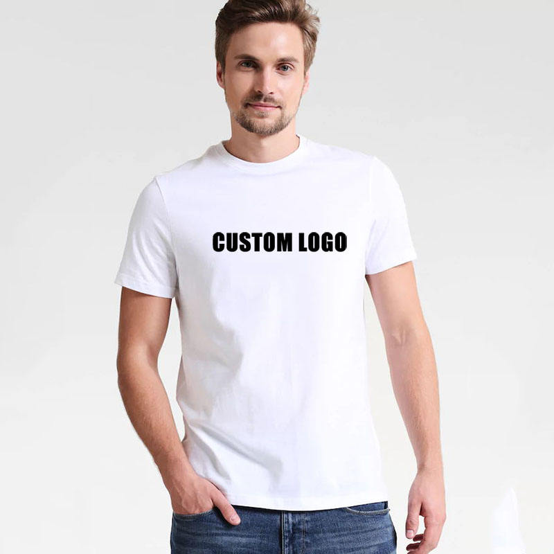 Wholesale China Customized Classic Round Neck Short Sleeve Blank White Plain Custom Printing T shirts