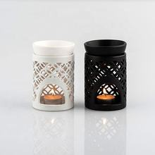 Wholesale White and black Ceramic Fragrance Oil Burner Tart Warmer