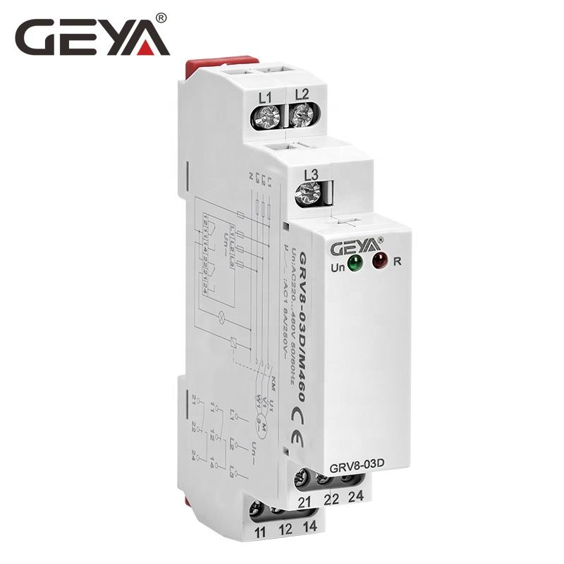GEYA GRV8 Driefase Elektrische Voltage Monitoring Relais Fase-uitval Apparaat Sequence Controller Fase Omkering Relais