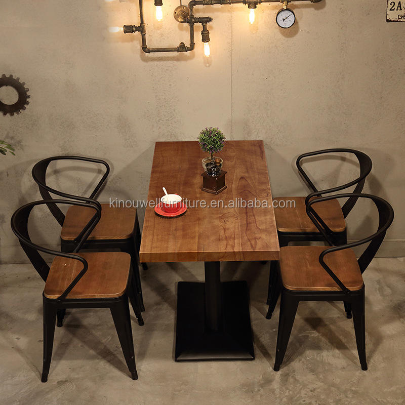 restaurant dining table and chairs set