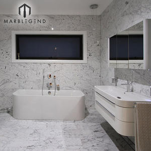 12 by 24 inch 10mm thick bathroom wall cladding natural Italy bianco carrara white marble tile