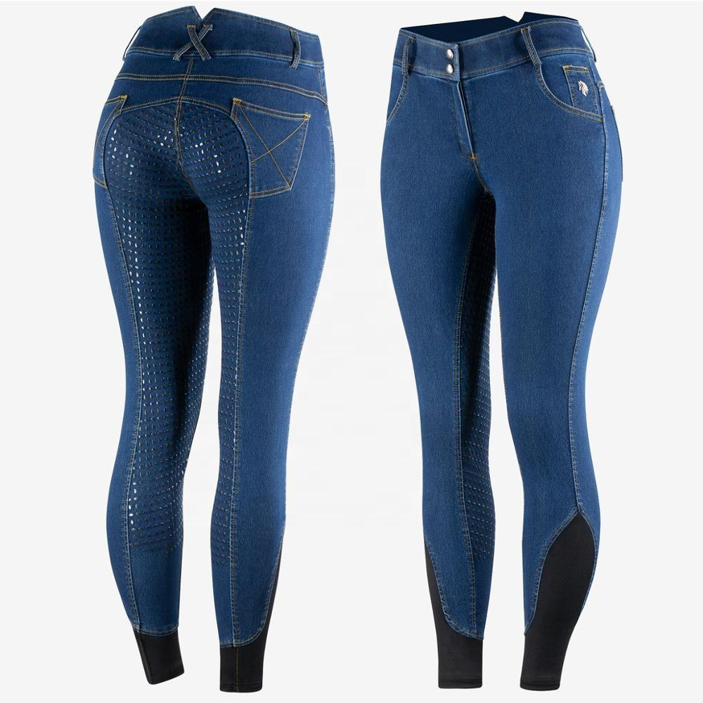 Latest Denim with Silicon Horse Riding Breeches and Equestrian Apparel