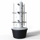 Complete vertical aeroponic misting garden tower system for sale