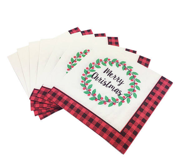 High Quality cheap custom printed disposable paper napkins