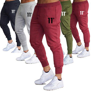 Männer Casual Mid-rise Rot track jogger Muster Baumwolle Hosen schweiß track jeans hose