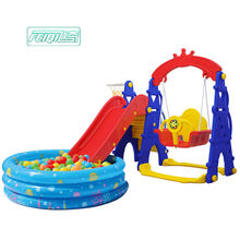 Children new style indoor playground baby hot sell multifunctional toys kids cheap colorful plastic swing slide