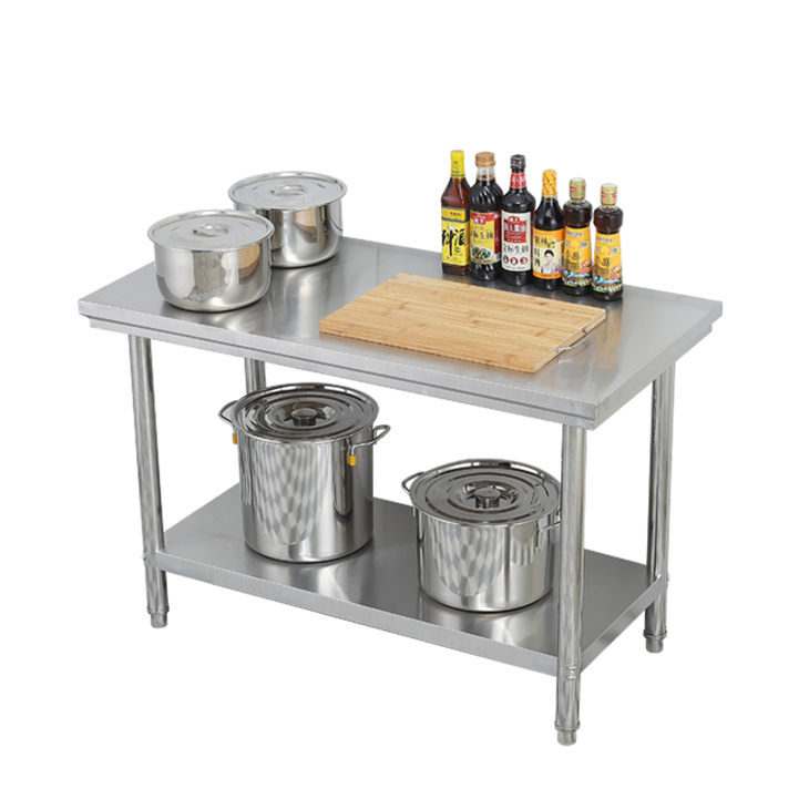 Strong stainless steel equipment filler prep work table for Restaurant work table food prep
