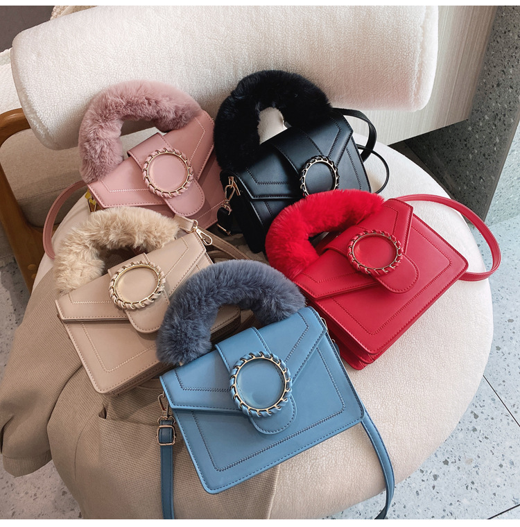2021 New Autumn und Winter Furry Handle Women Crossbody Handbag für Women Hand Bags Handbags For Women