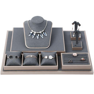 Jewelry Display Set Showcase Shop Decorative Fitting Ring Bust Necklace Bangle Bracelet Rack For Retail Shops