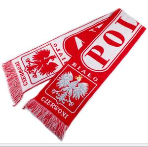 Ek 2020 Polen Hot Selling Voetbal Fan Polish Acryl Geweven Sjaal