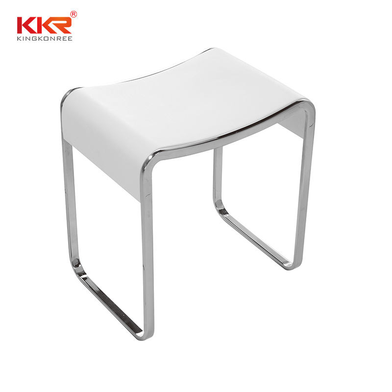 Modern Bathroom Furniture Bath Sitting Bench Solid Surface Stone Anti Slip Shower Stool