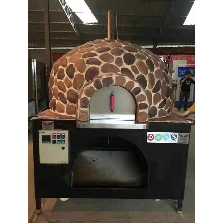 Commercial Wood Fired Pizza Oven Traditional Stone Gas/Wooden Bread/Pizza Oven Conveyor