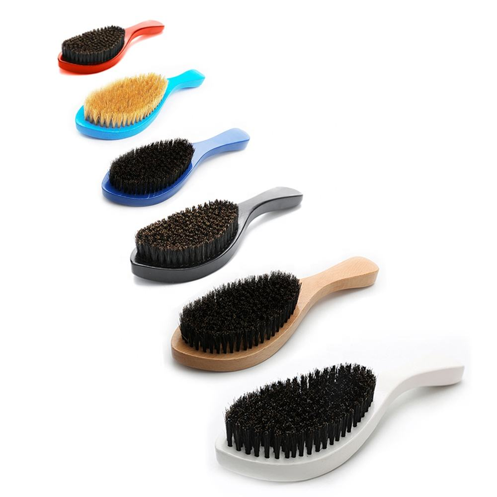 Wholesale 100% boar bristle 360 curved hard custom hair wave brush man beard brush