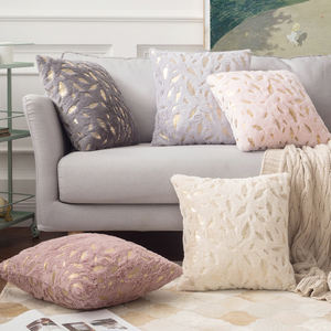 Decorative High Quality Feather Cushion Cover Fur Feather pillow cover Home Plush Pillow Case 45 by 45
