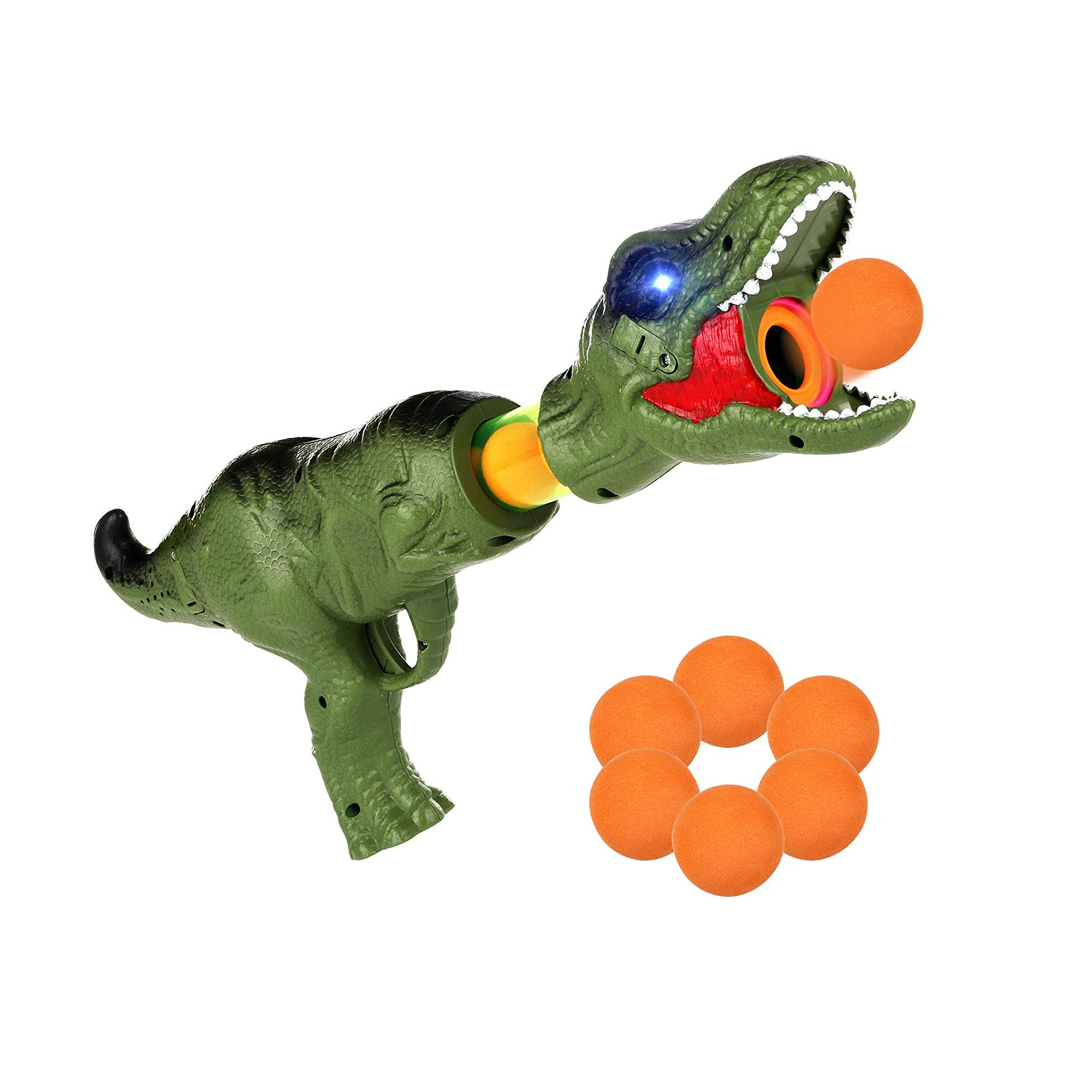 Air Powered Shooter Power Popper Gun Role Playing Great Toy Indoor or Outdoor with Lighting and Roaring Fire Blaster for Kids