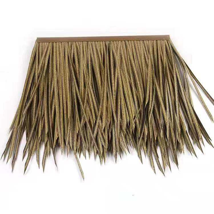 Free Sample Environmental Protection Fireproof Artificial Palm Leaves Synthetic Reed Thatch top tent roof tile