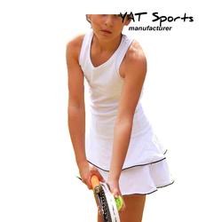custom golf school student girls outfit sportswear white color children kids youth tennis dress