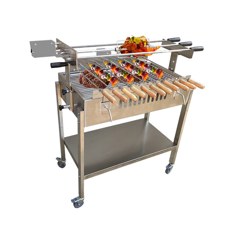 साइप्रस लकड़ी का कोयला Barbeque ग्रिल Foukou ग्रीक साइप्रस Motorised Rotisserie Asador <span class=keywords><strong>BBQ</strong></span>