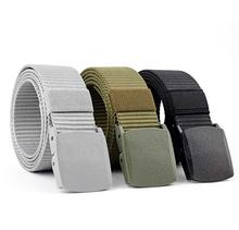 3.8cm Military Tactical Custom Men Army Web Outdoor Woven Fabric Nylon Belt With Plastic Buckle Laser Logo