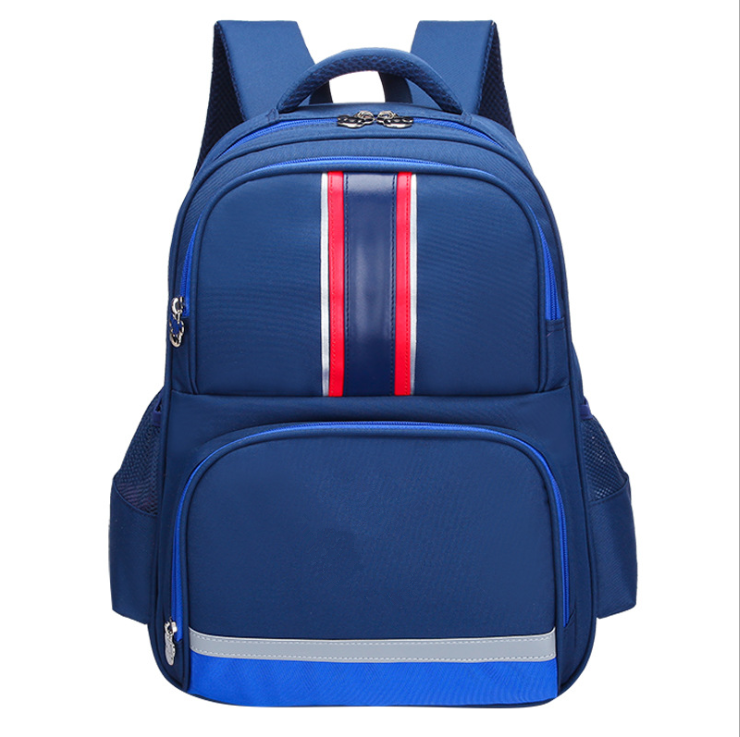 Multicolor children school bags kid safe backpack 6-12 years old boys girls school bag with reflective stripe