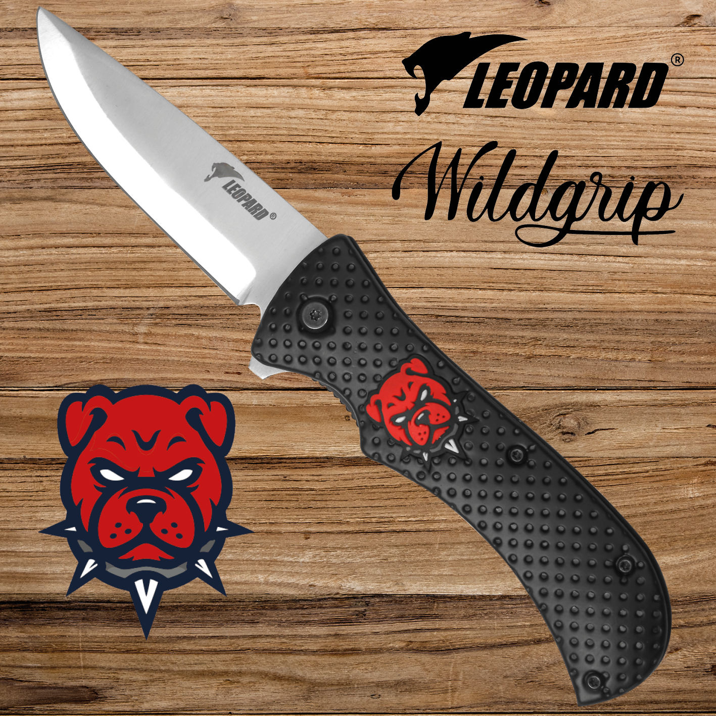 WILDGRIP EDC knives & folding pocket knife with bulldog head - Rescue, survival & outdoor knives use - 48h Fast Europe delivery