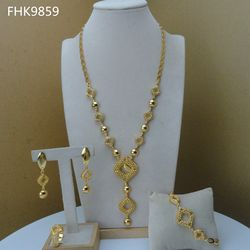 Yuminglai  Dubai Jewelry Sets 18k Gold Plated Jewelry for Wo