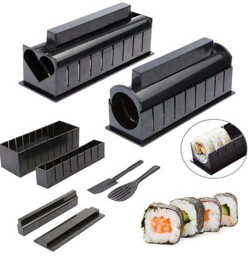 Amazon Hot Sale 11Pcs Set Sushi Making Tools Sushi Roller Machine Mold DIY Tools