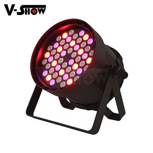 ในร่ม Par Light 54X5W 4in1 LED Par Can Stage Bar Party DJ Disco Club Par