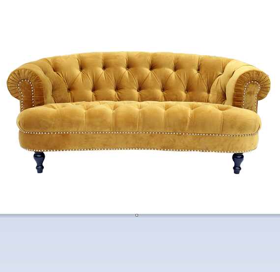 home furniture fabric sofa/living room furniture 2 seat chesterfield velvet sofa set Living Room Furniture Velvet Sofa