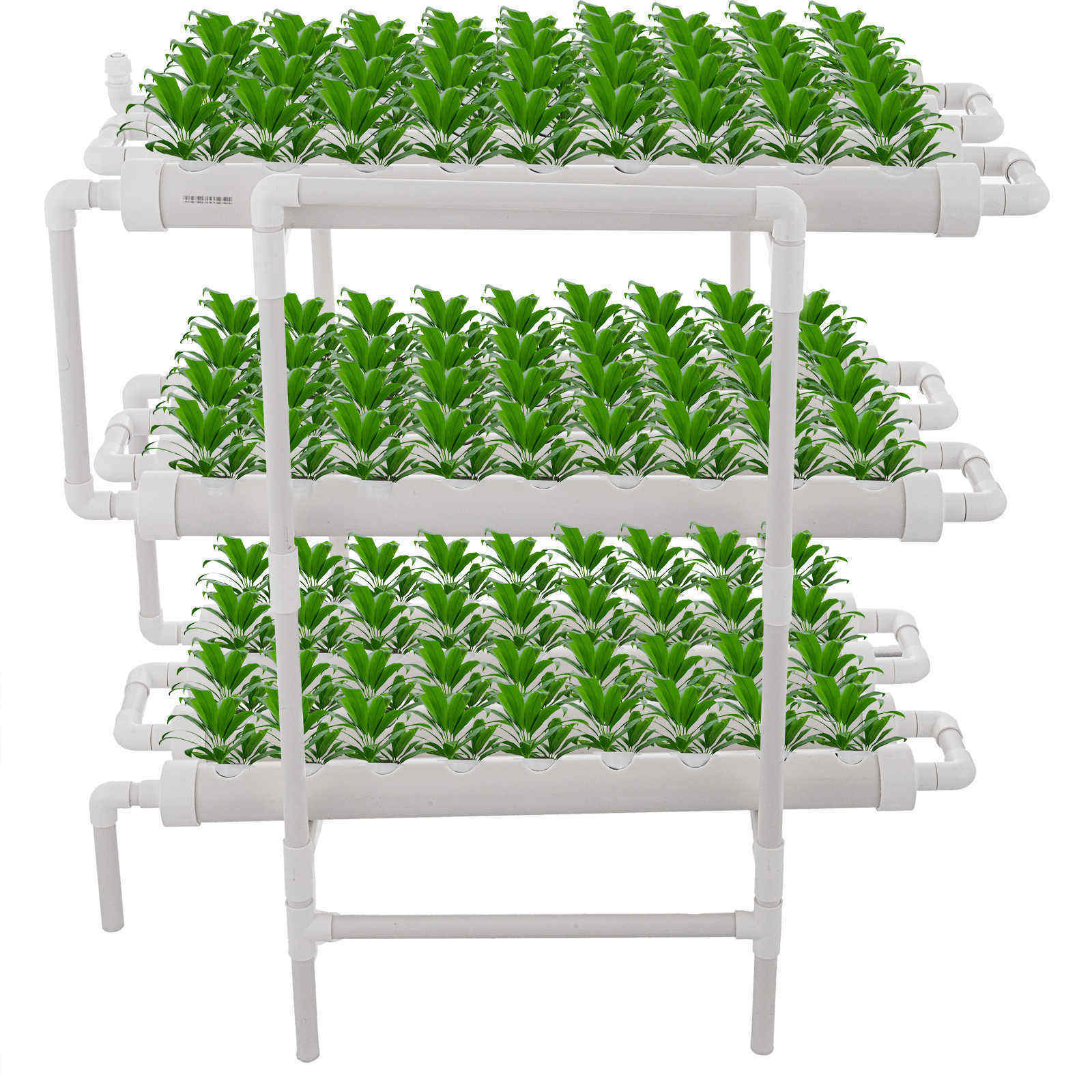 Hydroponic Grow Kit 12 Pipes 3 Layers 108 Plant Sites Food Grade System Melons