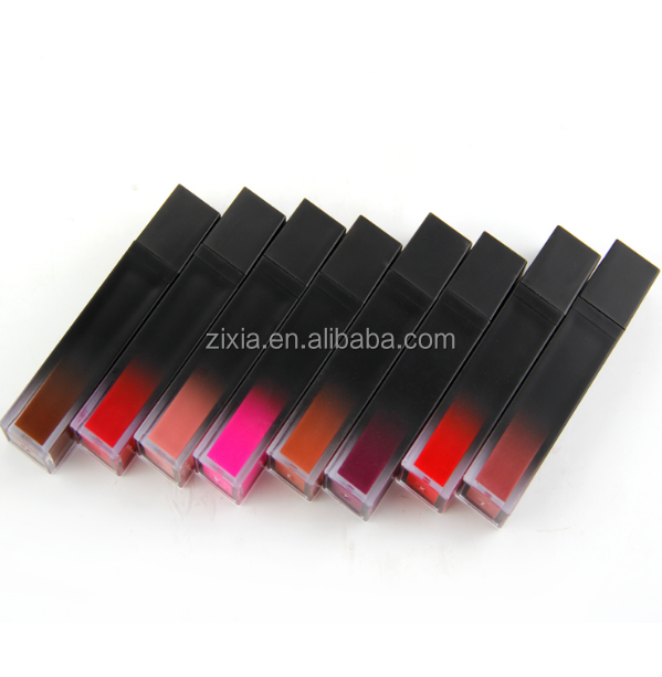 2019 Grosir Makeup 8 Warna Make Up Natural Dropshipping Lip Gloss Tabung Gradien Square Bentuk Private Label