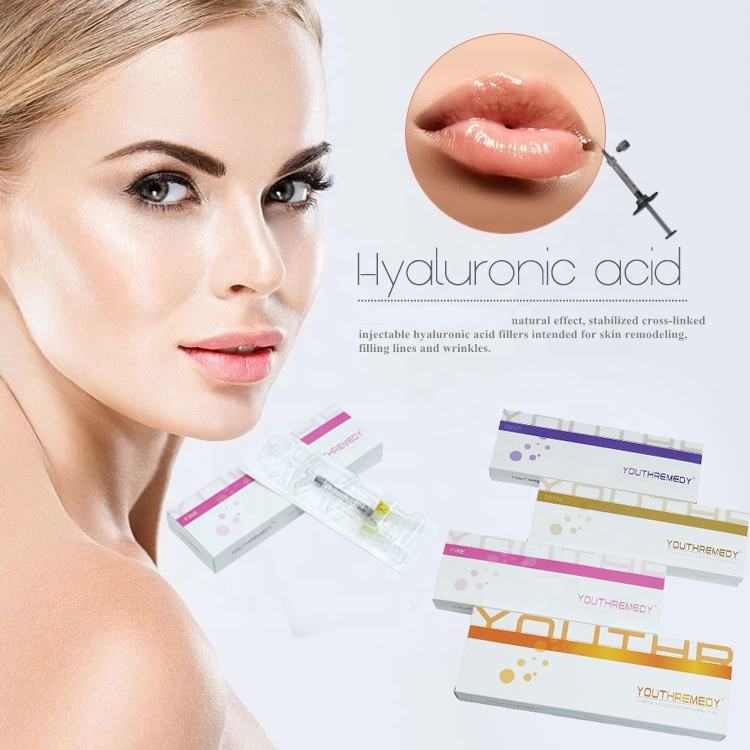 Factory Price Hot Sale antiaging Long-lasting Hyaluronic acid korea hyaluronic acid dermal filler 1ml lip filler injections