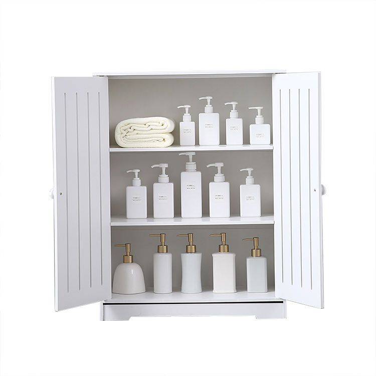 Double Door 3 Layer Independent Unit PVC Storage Cabinet