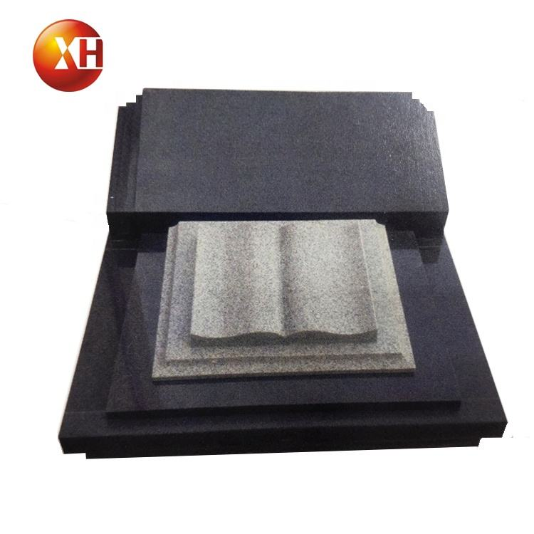 American Style High Polished Hand-Carved Black Granite Book Shape Tomb Marker Cemetery Stone