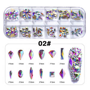 Perfect Cutting Surface Mix Size Coloyrful Crystal Glass Round 1440pcs New Decorations 3d Nail Arts Rhinestones