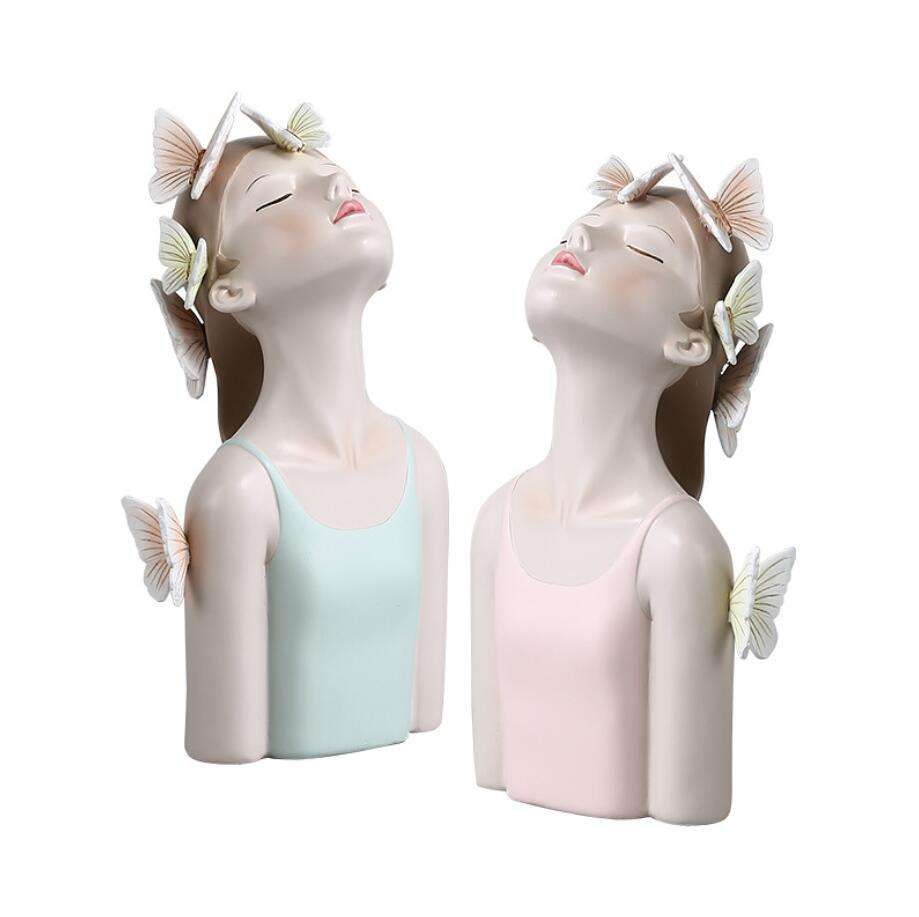 Counter Decoration Girl Resin Home Products