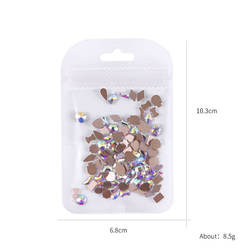 Hot Sale Crystal Glass Multi-color Tourmaline Nail Rhinestones Decoration Jewelry Droptear Square Charm 3d Nail Art